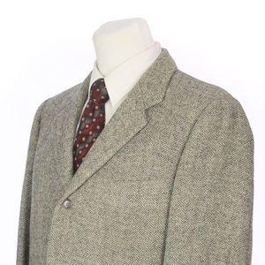 Vintage Harris Tweed Gray Scottish Wool Sport Coat